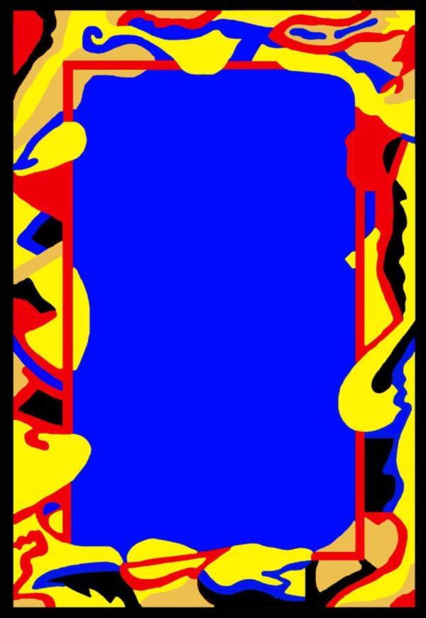 Kamexko Product Kilim rectangle carpet living room children room BLUE