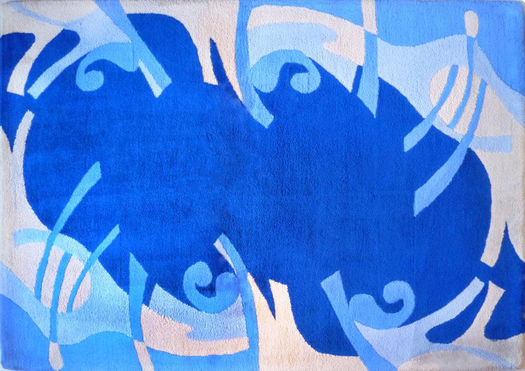 Kamexko Product Kilim rectangle carpet living room blue Magic