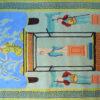 Kamexko Product Kilim rectangle carpet living room children room Greek Statue (yellow)