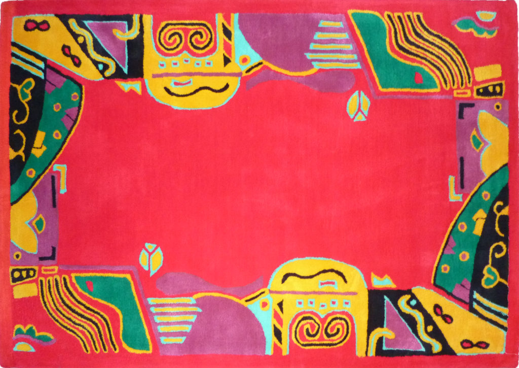 Kamexko Product Kilim rectangle carpet living room children roomFantasia (red)