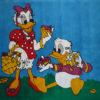 Kamexko Product Kilim free shape carpet children room Donald + Daisy Duck
