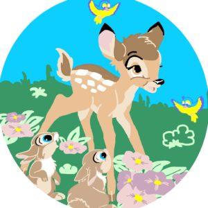 073 2 Kamexko Kilim carpet children room Round Bambi