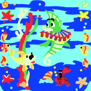 065 1 Kamexko Kilim carpet children room Sea Animal