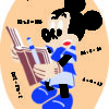 71 1 Kamexko Kilim carpet children room Elipse Mickey Mouse